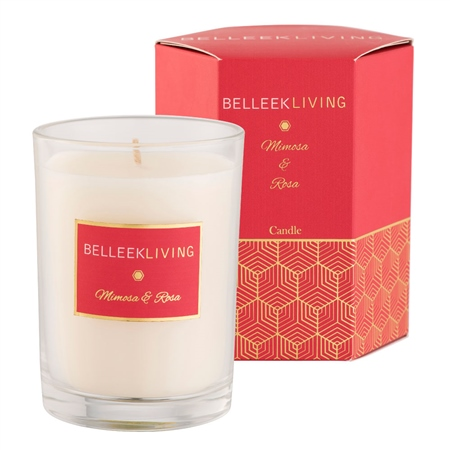 Belleek Living Mimosa & Rosa Candle  - Click to view a larger image