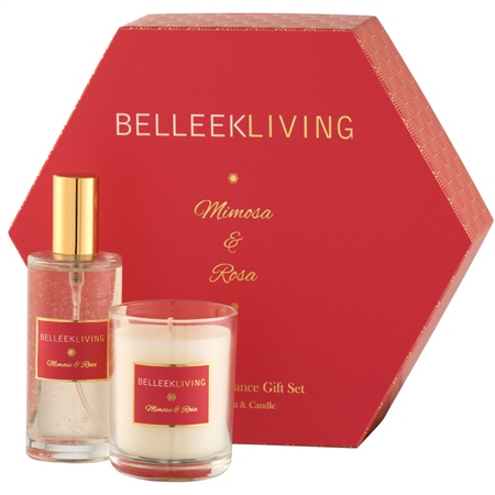 Belleek Living Mimosa & Rosa Gift Set  - Click to view a larger image