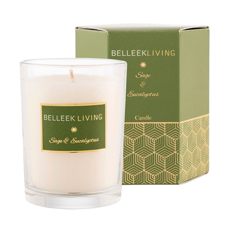 Belleek Living Sage & Eucalyptus Candle  - Click to view a larger image