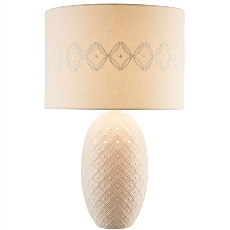 Belleek Living Inish Lamp & Shade  - Click to view a larger image