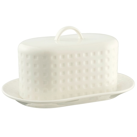 Belleek Living Grafton Butterdish  - Click to view a larger image