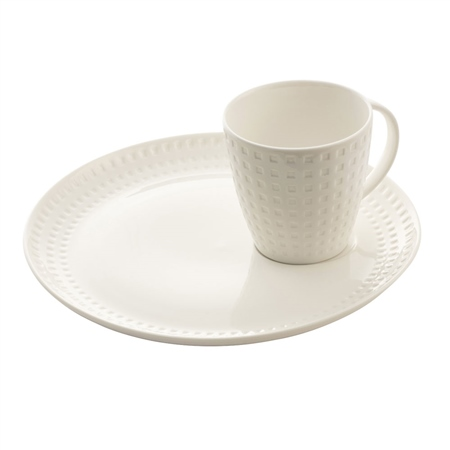 Belleek Living Grafton Cup & Tray Set  - Click to view a larger image