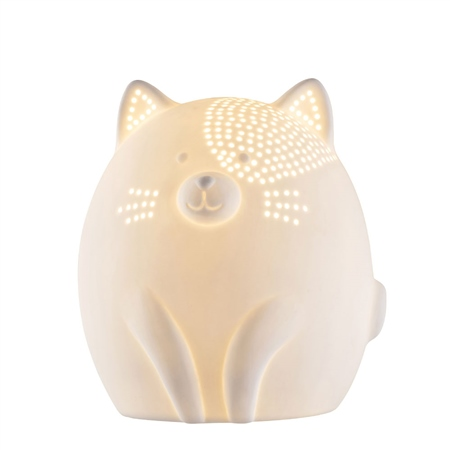 Belleek Living Kitty Cat Luminaire  - Click to view a larger image