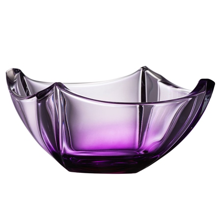 "Galway Crystal Amethyst Dune 10"" Bowl  - Click to view a larger image"