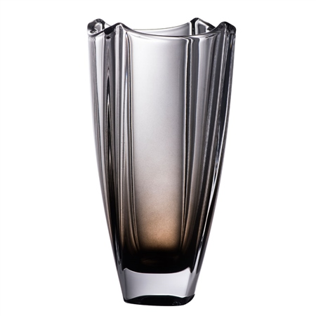 "Galway Crystal Onyx Dune 10"" Square Vase  - Click to view a larger image"