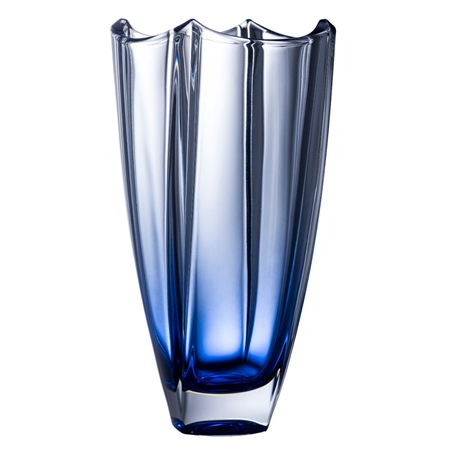 "Galway Crystal Sapphire Dune 12"" Square Vase  - Click to view a larger image"