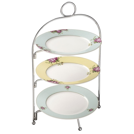 Aynsley Archive Rose Three Tier Server Stand  - Click to view a larger image