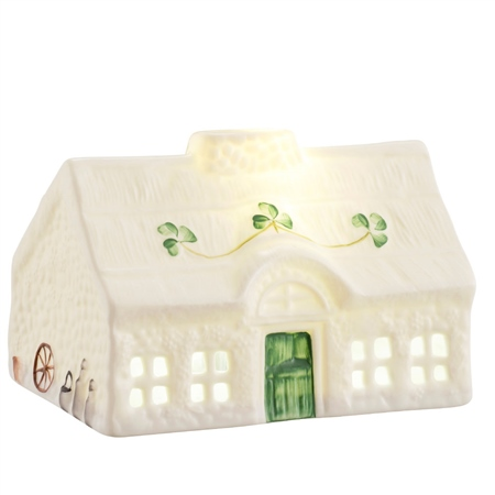 Belleek Classic Blarney Cottage LED Light  - Click to view a larger image