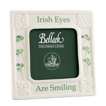 Belleek Classic Irish Eyes are Smiling 3 x 3 Frame  - Click to view a larger image
