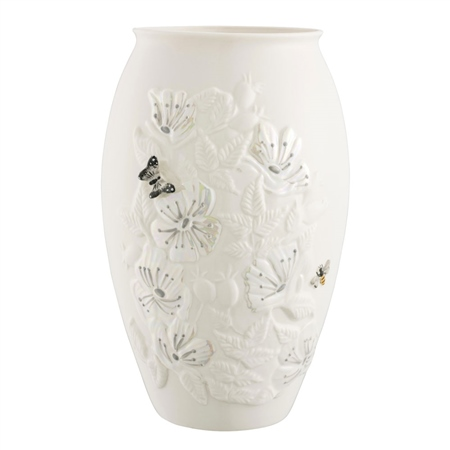 "Belleek Classic Irish Wild Rose 10"" Vase  - Click to view a larger image"