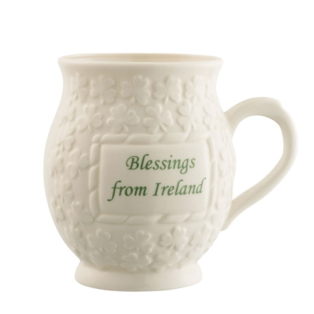 Belleek Classic Blessing from Ireland Mug  - Click to view a larger image