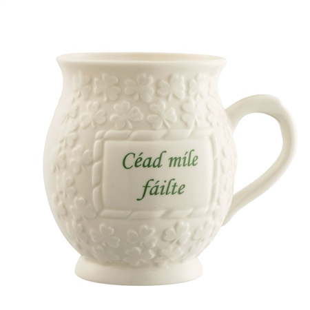 Belleek Classic Cead Mile Failte Mug  - Click to view a larger image