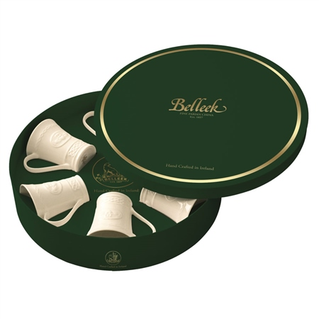 Belleek Classic Claddagh Six Mugs Gift Box  - Click to view a larger image