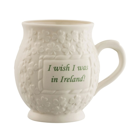 Belleek Classic I Wish I Was in Ireland Mug  - Click to view a larger image