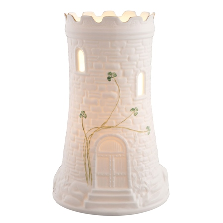 Belleek Classic Castle Luminaire  - Click to view a larger image