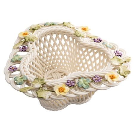 Belleek Classic Saint Patrick's Basket Belleek.com - Exclusive St Patricks Basket - Click to view a larger image