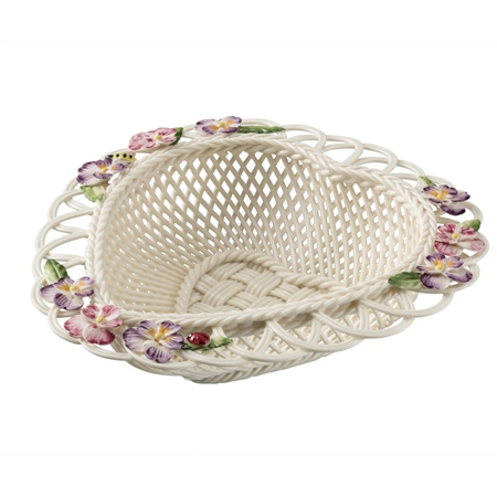 Belleek Classic Violet Basket Belleek.com - Exclusive Violet Basket - Click to view a larger image