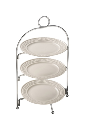 Belleek Classic Galway Weave Three Tier Server Stand *Belleek.com Exclusive*  - Click to view a larger image