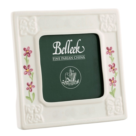 Belleek Classic Girl 3 x 3 Personalised Frame  - Click to view a larger image