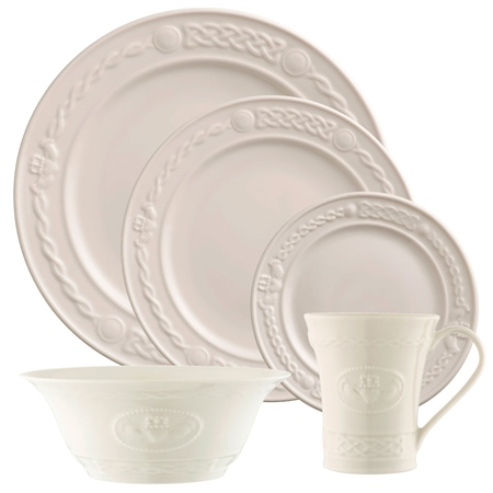 Belleek Classic Claddagh 5 Piece Dining Set  - Click to view a larger image