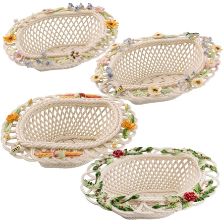 Belleek Classic Four Season Basket *Belleek.com - Exclusive*  - Click to view a larger image