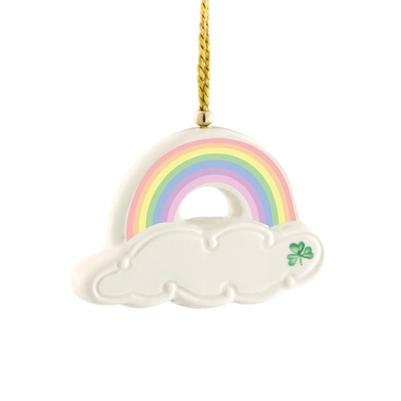 Belleek Classic Personalised Rainbow Ornament  - Click to view a larger image