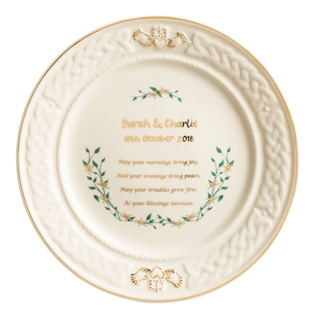 Belleek Classic Personalised Anniversary Plate  - Click to view a larger image