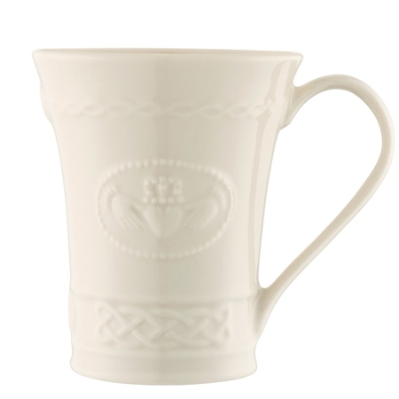 Belleek Classic Personalised Claddagh Mug  - Click to view a larger image