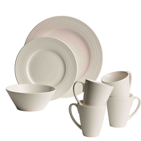 Belleek Living Ripple 16 Piece Dining Set Belleek Living Ripple Tableware Collection - Click to view a larger image