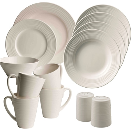 Belleek Living Ripple 20 Piece Dining Set Belleek Living Ripple Tableware Collection - Click to view a larger image