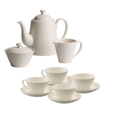 Belleek Living Ripple Teaset Belleek Living Ripple Tableware Collection - Click to view a larger image