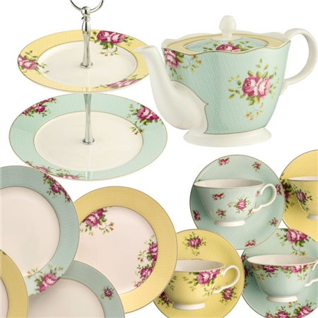 Aynsley Archive Rose Afternoon Teaset 2  - Click to view a larger image