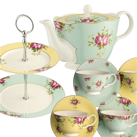 Aynsley Archive Rose Afternoon Teaset3 - *Belleek.com - Exclusive*  - Click to view a larger image