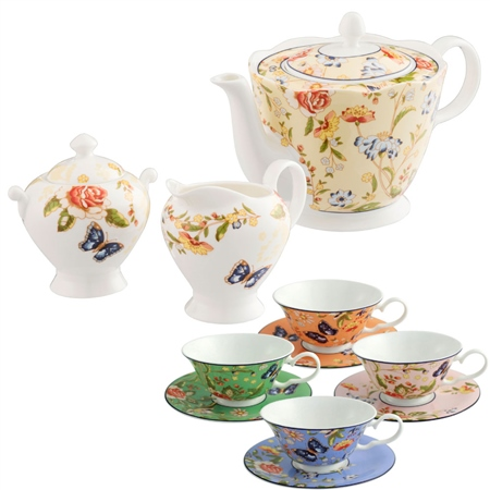 Aynsley Cottage Garden Afternoon Teaset  - Click to view a larger image