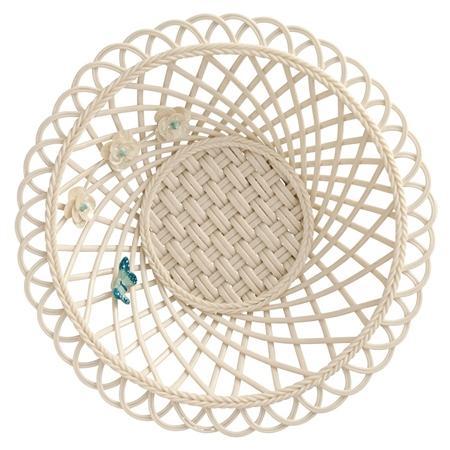 Belleek Living Colour Collection - Azure Basket *Belleek.com - Exclusive*  - Click to view a larger image
