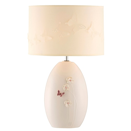 Belleek Living Colour Collection - Blush Lamp  Belleek Blush Giftware Collection - Click to view a larger image