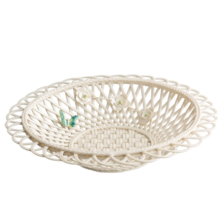 Belleek Living Colour Collection - Jade Basket Belleek JadeGiftware Collection - Click to view a larger image