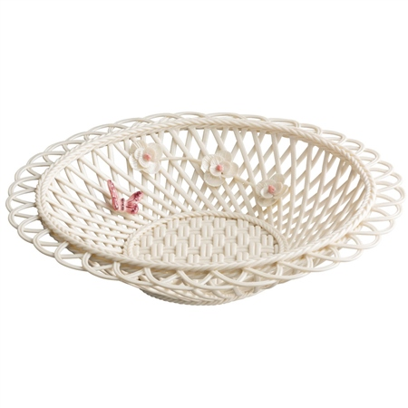 Belleek Living Colour Collection - Blush Basket Belleek - Blush Giftware Collection - Click to view a larger image