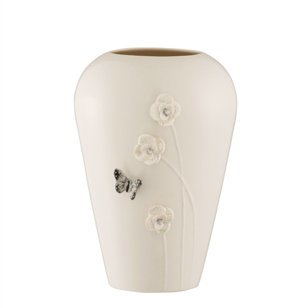 """Belleek Living Colour Collections - Graphite 8"""" Vase  - Click to view a larger image"""