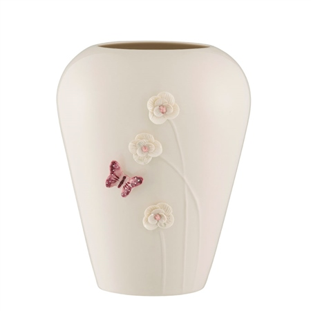 "Belleek Living Colour Collections - Blush 8"" Vase Belleek Blush Giftware Collection - Click to view a larger image"