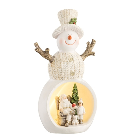 Aynsley Christmas Scene Snowman LED  - Click to view a larger image
