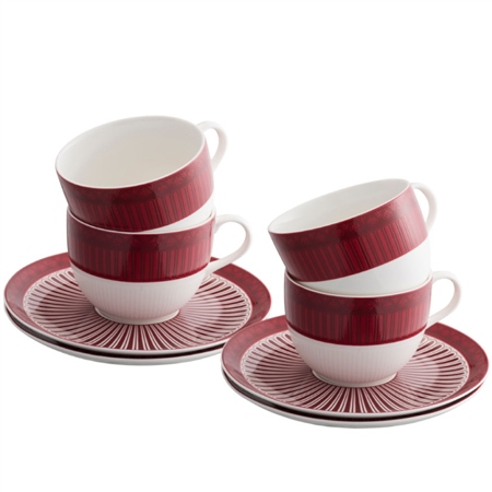 Aynsley Fortuna 4 Cups & Saucers Set Aynsley Fortuna Tableware Collection - Click to view a larger image