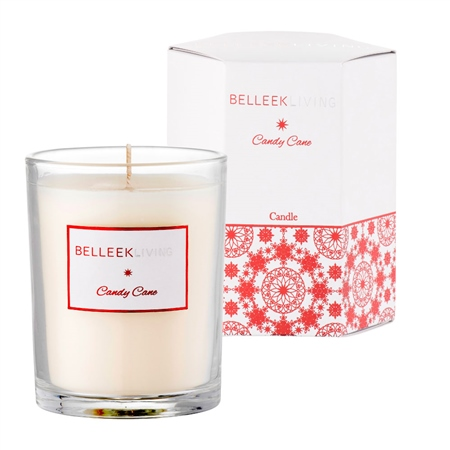 Belleek Living Candy Cane Candle  - Click to view a larger image