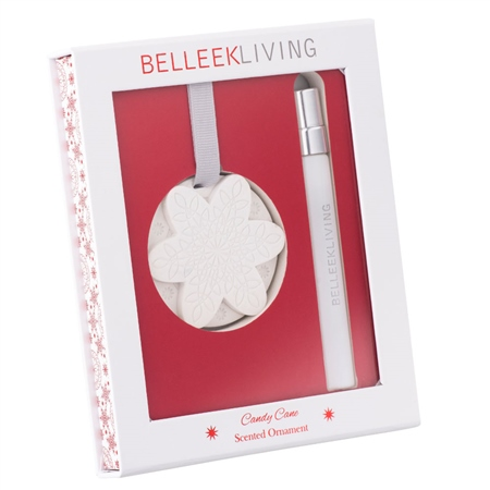 Belleek Living Candy Cane Scented Ornament  - Click to view a larger image