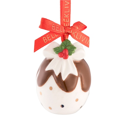 Belleek Living Christmas Pudding Mini Ornament 1