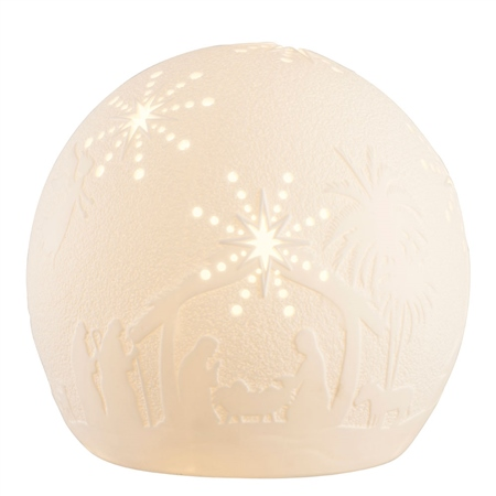 Belleek Living Nativity Globe LED  - Click to view a larger image