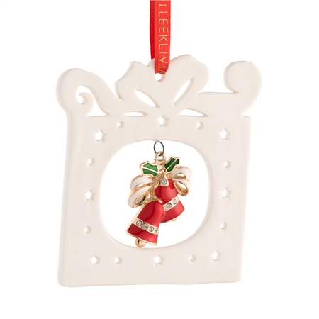 Belleek Living Pierced Bells Ceramic Ornament  - Click to view a larger image