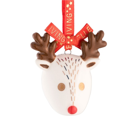 Belleek Living Reindeer Mini Ornament  - Click to view a larger image