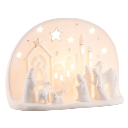Belleek Living Town of Bethlehem Luminaire  - Click to view a larger image