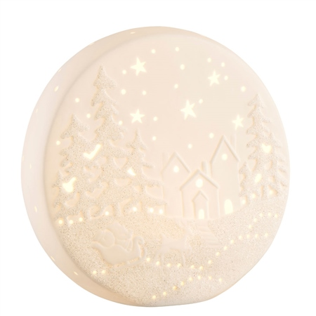 Belleek Living Winter Scene LED  - Click to view a larger image
